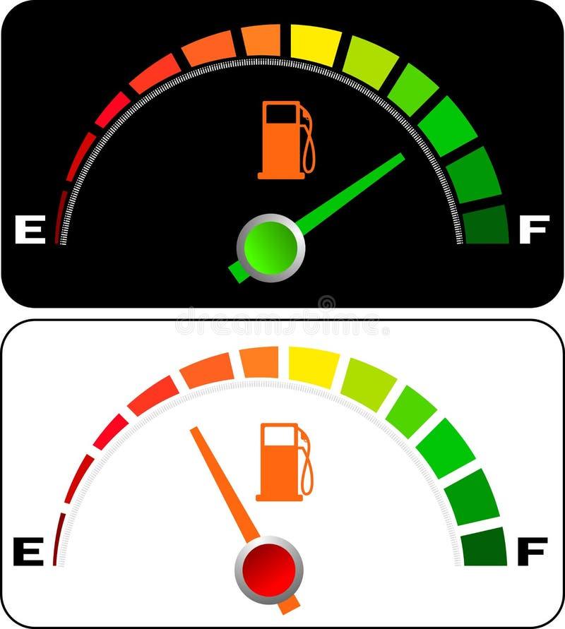 A gasolina do carro mete ilustração stock