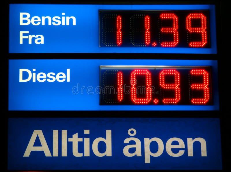 Gasolina e diesel imagens de stock