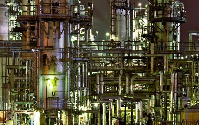 Gasolina Nightscape fotografía de archivo