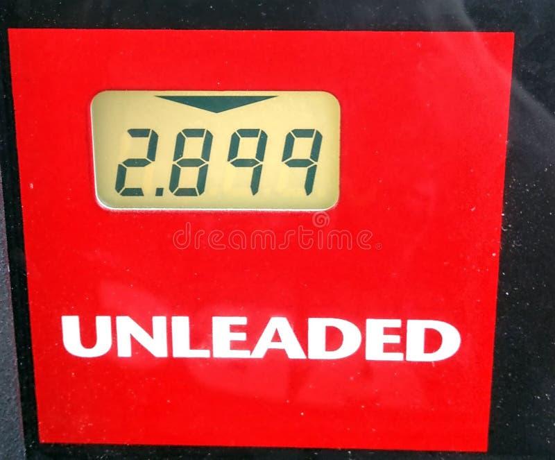 Gasolina Overpriced fotografia de stock royalty free