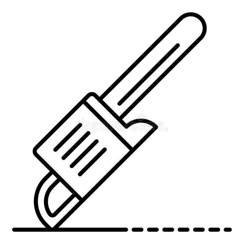 A gasolina viu o ícone, estilo do esboço ilustração do vetor