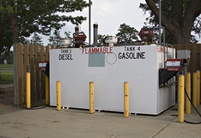 Gasolina y bombas de Dielsel fotografía de archivo