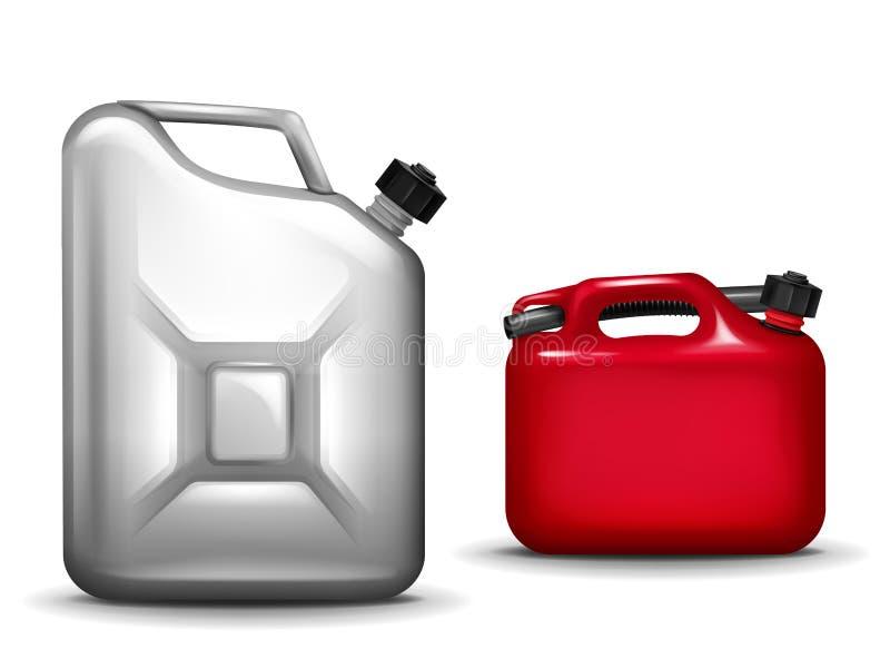 Gasoline canister realistic 3D vector illustration royalty free illustration