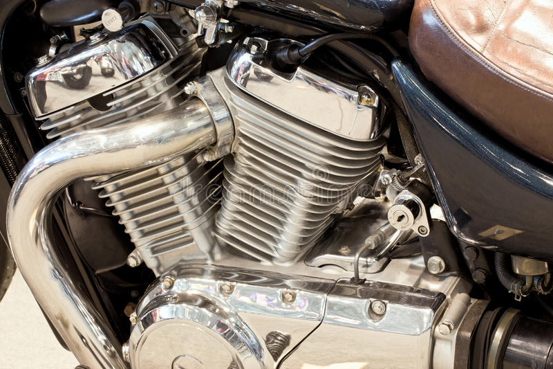 Gasoline engine owned motorcycle royalty free stock images