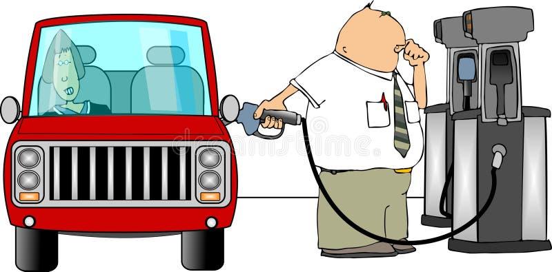 Download Gasoline fillup stock illustration. Illustration of pump - 537528