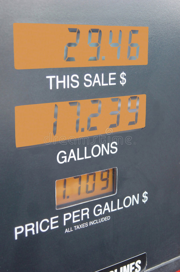 Download Gasoline Meter stock image. Image of meters, gallons, prices - 77149