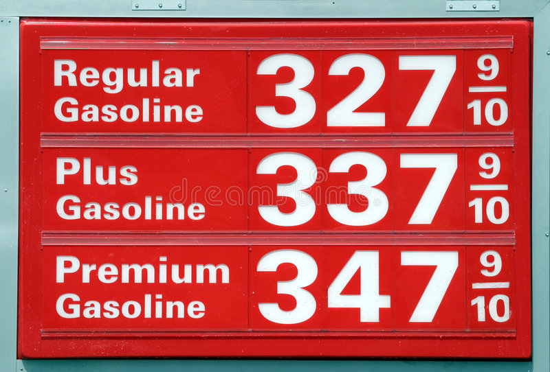 Gasoline prices stock image