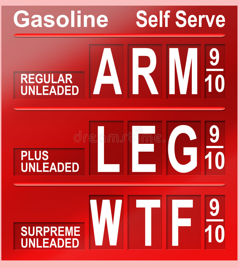 Gasoline prices royalty free stock photography
