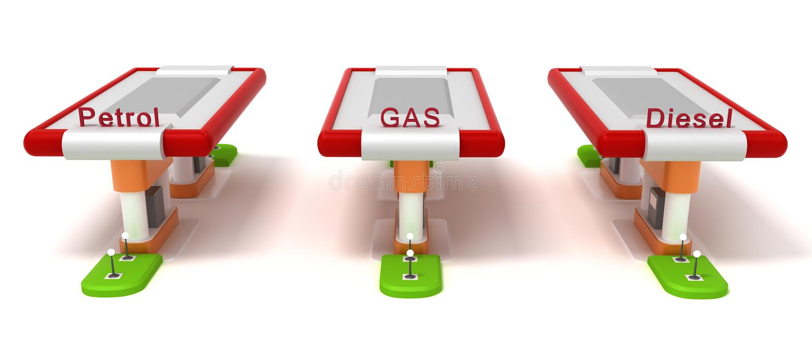Gasoline Stations Royalty Free Stock Photos