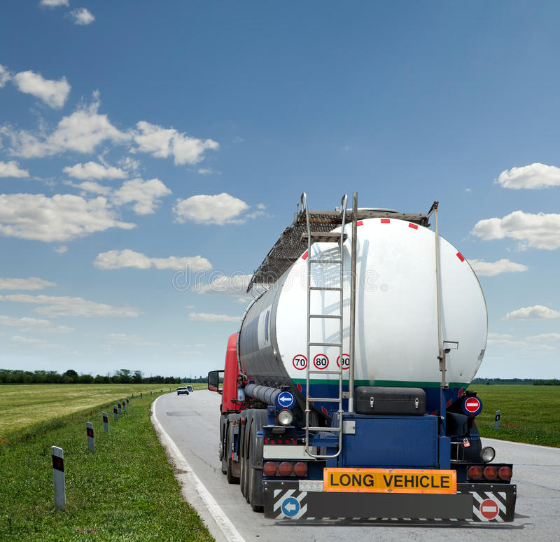 Gasoline tank truck stock photos