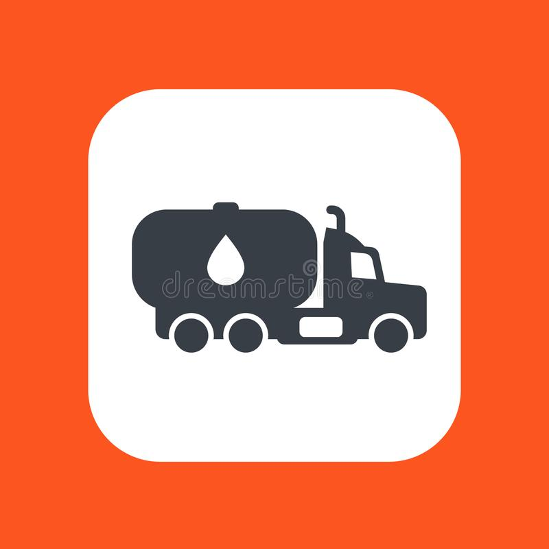 Gasoline tanker, truck with petroleum royalty free illustration