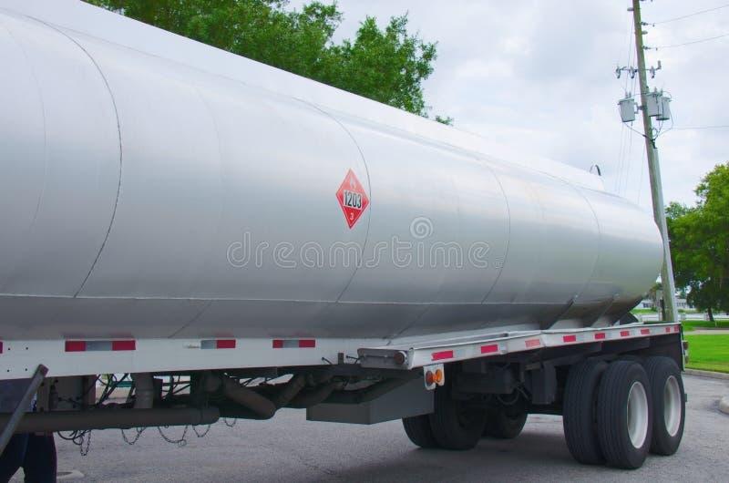 Gasoline Tanker Truck Tank Closeup Stock Image