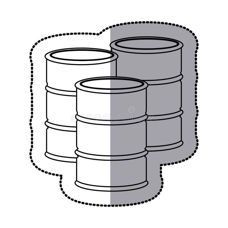 gasoline tanks icon stock stock illustration