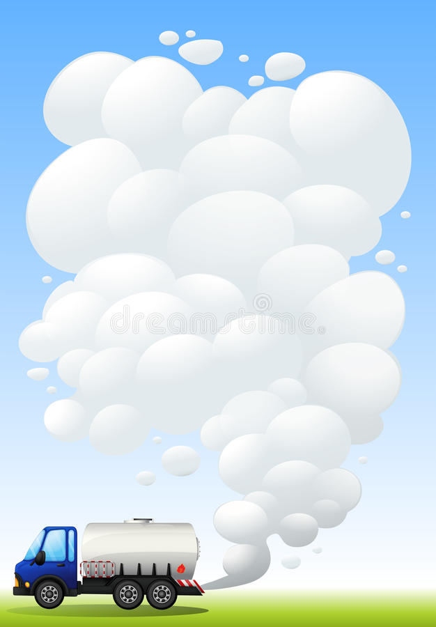 Download A Gasoline Truck Emitting Smoke Stock Vector - Image: 33315011