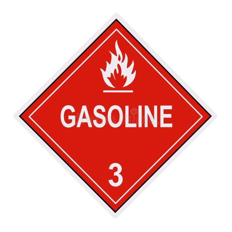 Gasoline Warning Label stock photos