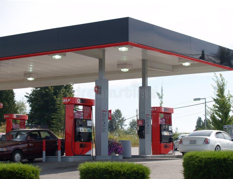 Gasolinera fotografía de archivo