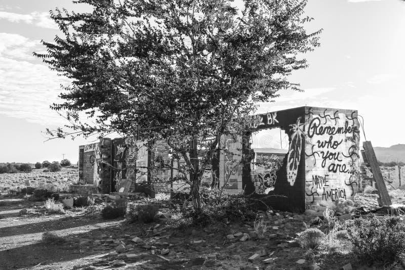 Gasolinera abandonada en Utah foto de archivo