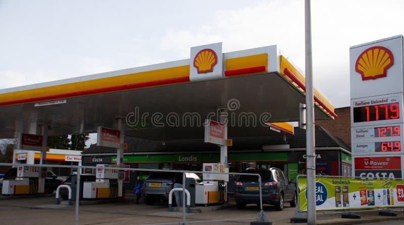 Gasolinera de Shell imágenes de archivo libres de regalías