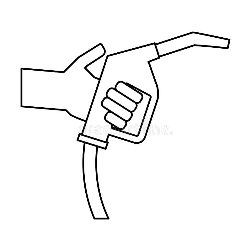 gasolinera del combustible del arma stock de ilustración