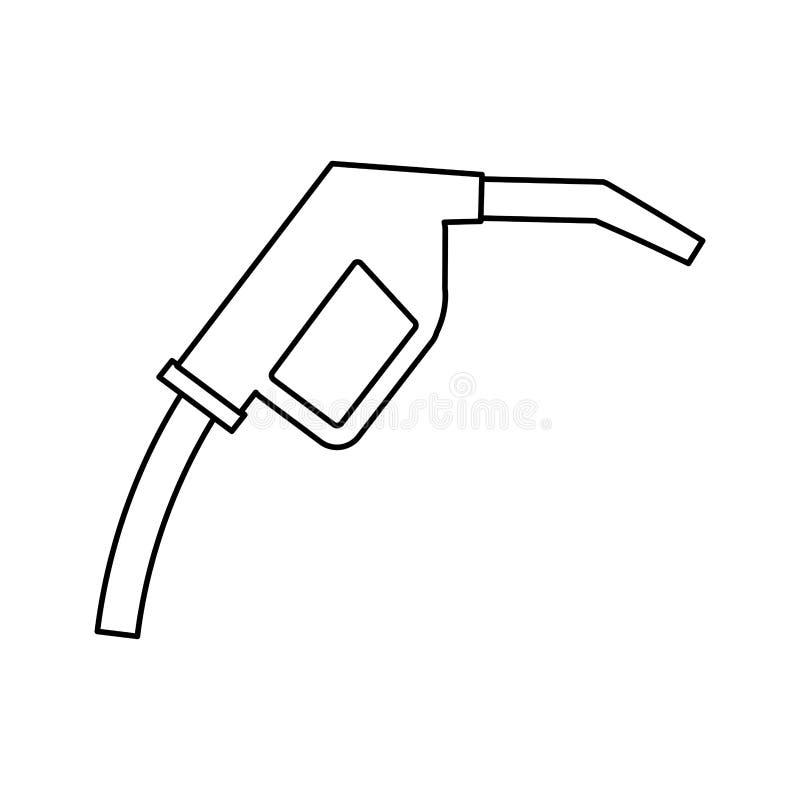 gasolinera del combustible del arma ilustración del vector