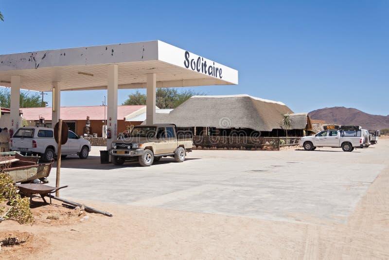 Gasolinera del solitario, Namibia imagen de archivo libre de regalías