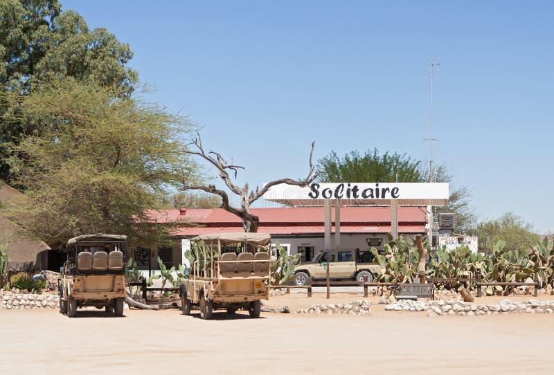 Gasolinera del solitario, Namibia fotografía de archivo