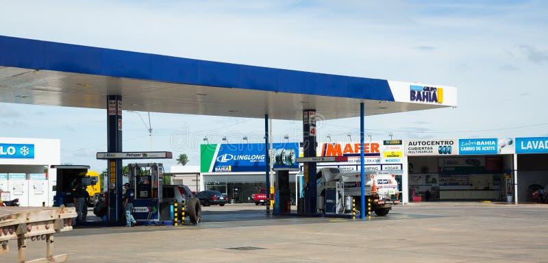 Gasolinera en Asuncion, Paraguay foto de archivo