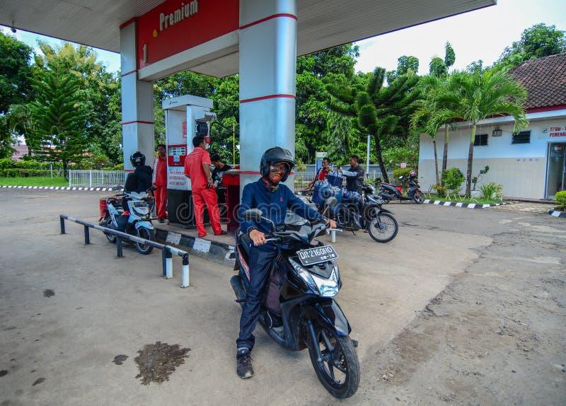 Gasolinera en Lombok, Indonesia imágenes de archivo libres de regalías