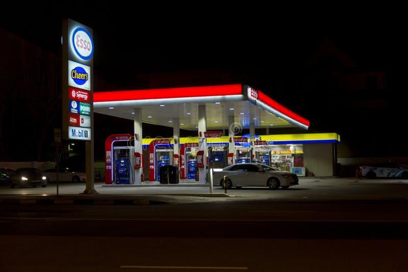 Gasolinera en Singapur foto de archivo