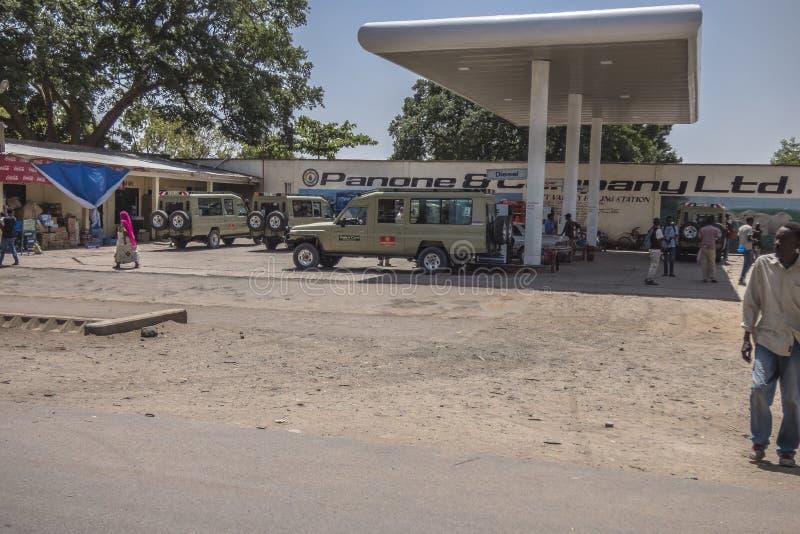 Gasolinera en Tanzania imagen de archivo libre de regalías