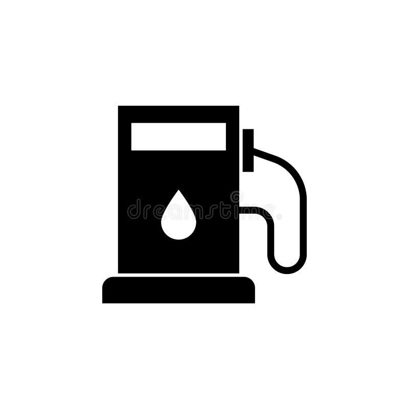 Gasolinera, icono del aceite en el fondo blanco Puede ser utilizado para la web, logotipo, app móvil, UI UX stock de ilustración