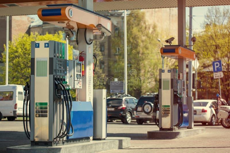 Gasolinera moderna. foto de archivo libre de regalías