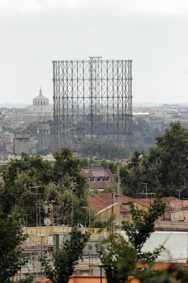 Gasometro in Rome royalty free stock photo