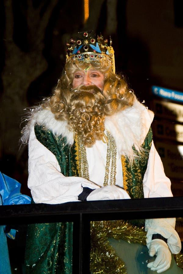 Gaspar King na parada bíblica dos três Reis Magos fotografia de stock