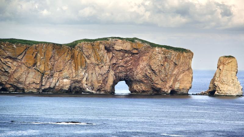 Gaspe Perce Rock, Quebec Canada royalty free stock photography