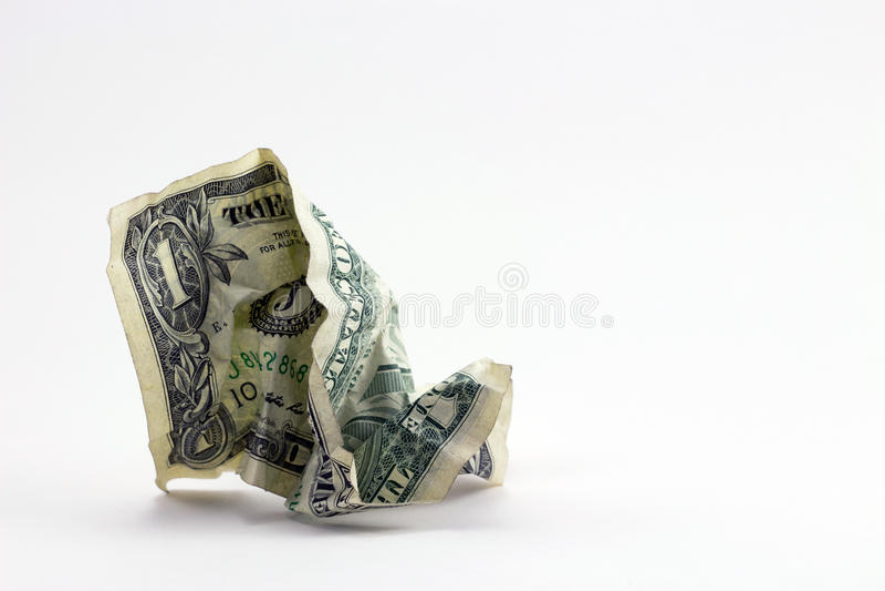 Gaspillage de l'argent photo libre de droits