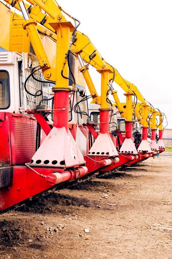 Gaspipeline Maschinen lizenzfreies stockfoto