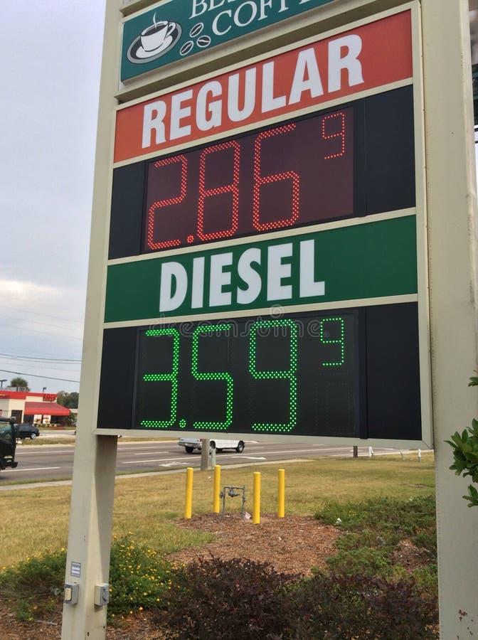 Gaspreis lizenzfreies stockbild