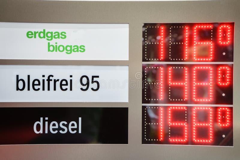 Gasprijzen stock foto