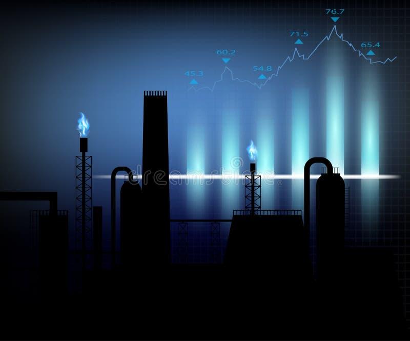 Gasproduktion Auch im corel abgehobenen Betrag vektor abbildung