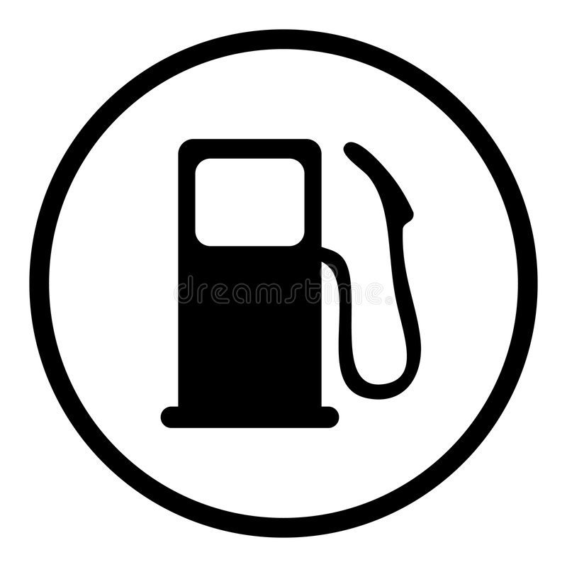 Gaspumpenikone lizenzfreies stockbild