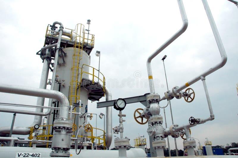 gasraffinaderi arkivfoton