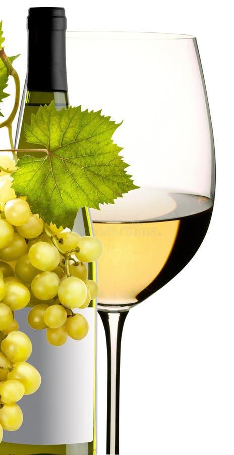 Gass des Weins mit Trauben lizenzfreies stockfoto
