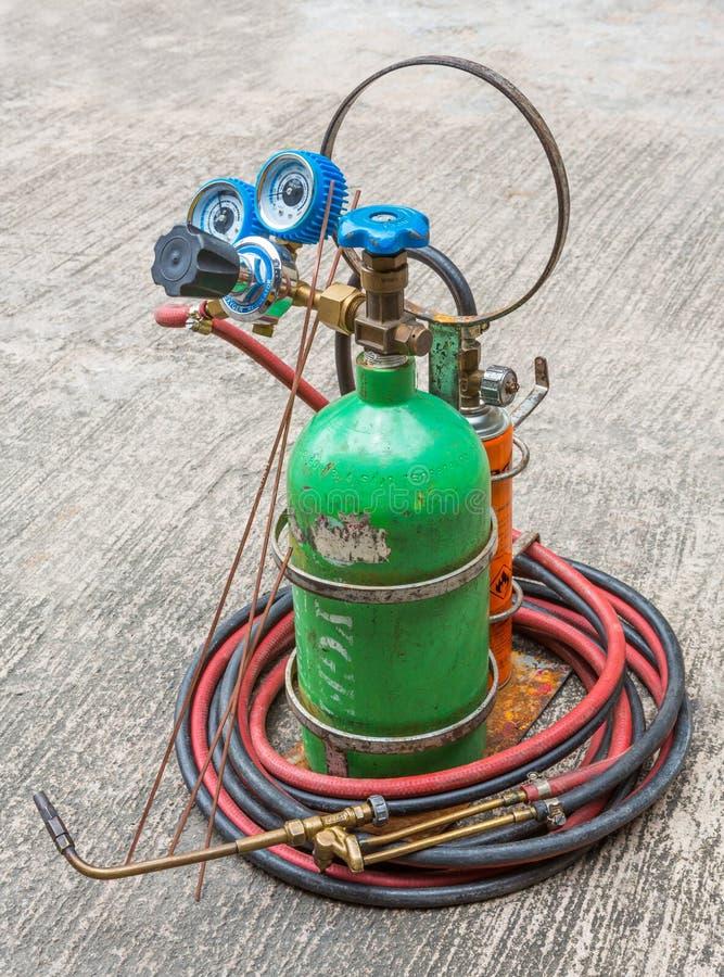 Gasschweißenausrüstung stockfotos
