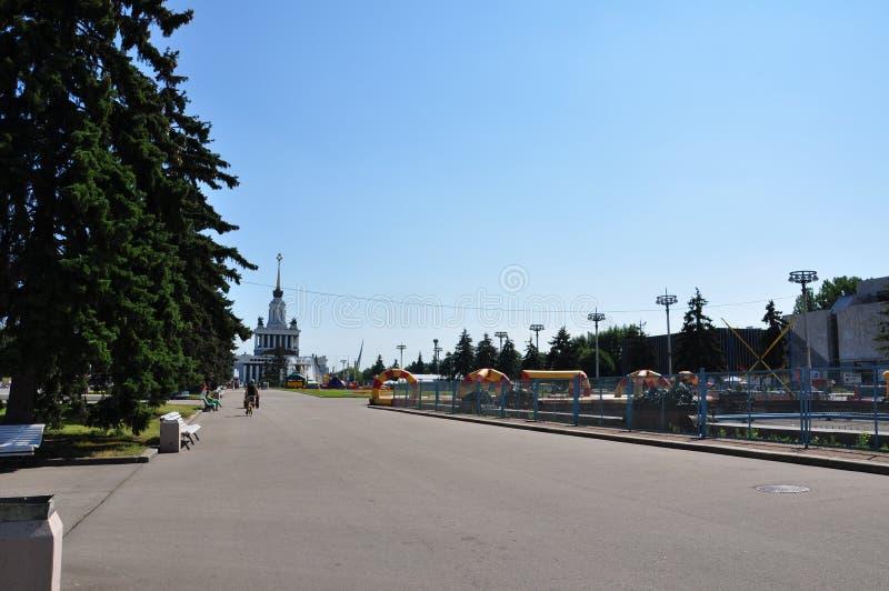 Gasse in der Stadt von Moskau lizenzfreies stockfoto