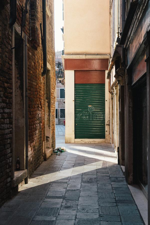 Gasse in Venedig stockfoto
