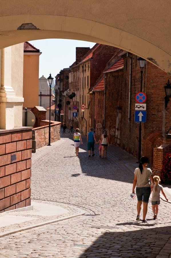 Gasse von Spichrze in Grudziadz Polen lizenzfreie stockfotografie