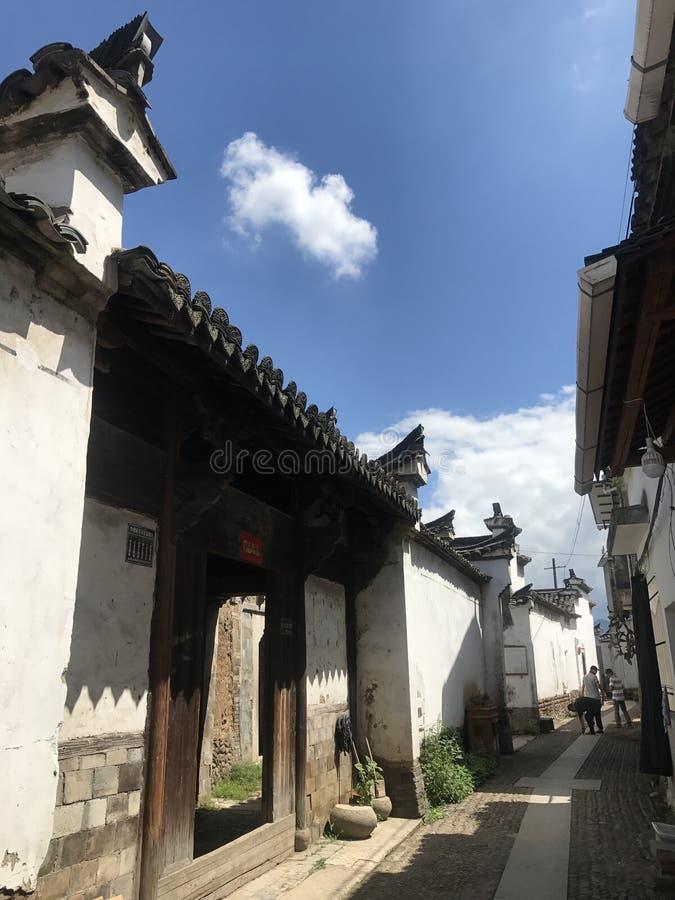 Gassen von Chinese-Huizhou-Architektur lizenzfreie stockfotos