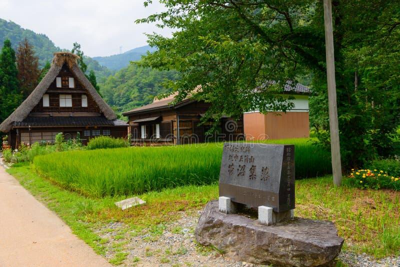 Gassho-zukuri村庄 免版税库存图片
