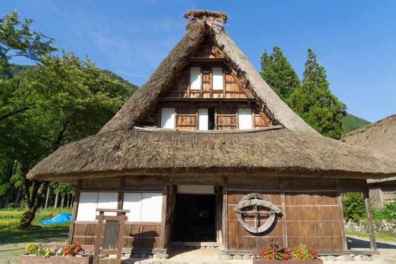 Gassho Zukuri (Gassho式)议院在Gokayama 免版税库存照片
